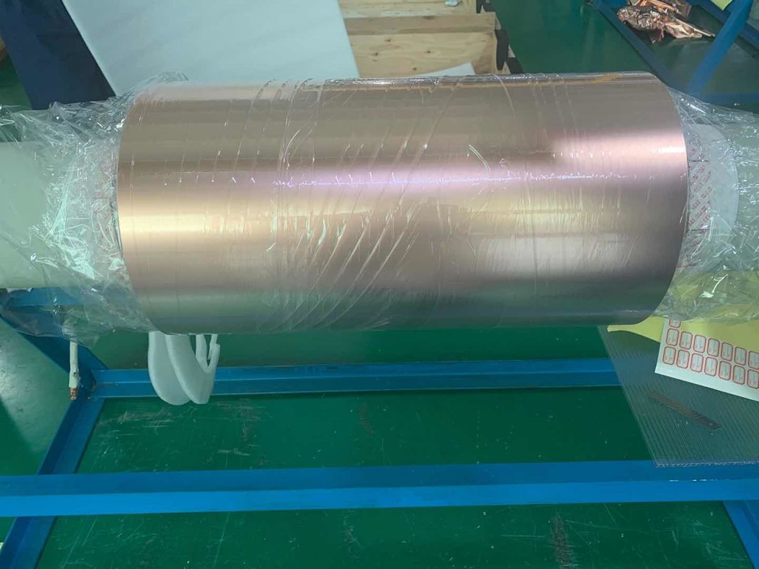 0.1mm ED Copper Shielding Foil Polished Raw Surface Treatment ISO Approval